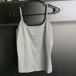 WHBM Large Scoop Neck Cami Grey Camisole